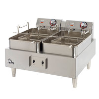 Star Max 530TEF 30 Pound Commercial Countertop Deep Fryer Twin Pots 208/240V