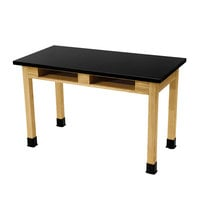 National Public Seating SLT2454-36-BC 24 inch x 54 inch Science Lab Table with Built-In Book Compartments - 36 inch Height