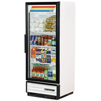 True GDM-12-HC-LD White Glass Door Refrigerated Merchandiser with LED Lighting