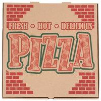 20 inch x 20 inch x 1 3/4 inch Kraft Corrugated Pizza Box - 25/Case