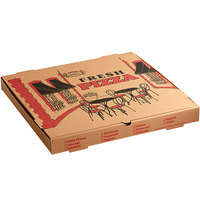 Choice 20 inch x 20 inch x 2 inch Kraft Corrugated Pizza Box - 25/Case