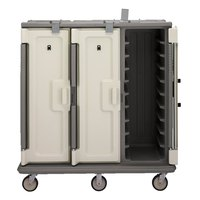 Cambro MDC1418T30194 Granite Sand 3 Compartment Meal Delivery Cart 30 Tray