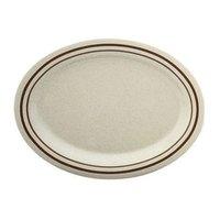 Arcadia Melamine Platter - 11 1/2 inch x 8 inch x 11/16 inch - 12 / Pack