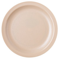 Carlisle PCD20725 Tan Narrow Rim 7 1/4 inch Polycarbonate Plate - 48/Case