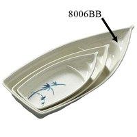 Blue Bamboo Melamine 1.6875 qt. Sushi Boat – 16 1/4 inch x 7 1/8 inch 12 / Pack