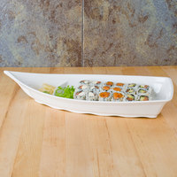 Thunder Group 8006BB Blue Bamboo 54 oz. Melamine Sushi Boat - 12/Case