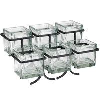 Cal-Mil 1809-13 Iron Two Tier Six Jar Black Wire Display - 14 inch x 9 inch x 7 inch