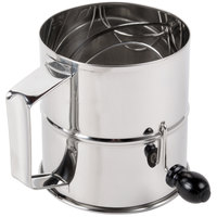8 Cup Stainless Steel Rotary Flour Sifter