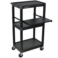 Luxor / H. Wilson LT45 Laptop Presentation Cart with 3 Shelves 45 inch High
