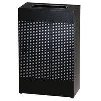 Rubbermaid SR14EPLT Silhouettes Black Steel Designer Rectangular Waste Receptacle - 25 Gallons (FGSR14EPLTBK)