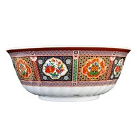 Thunder Group 5307TP Peacock 32 oz. Round Melamine Swirl Bowl - 12/Case