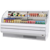 Turbo Air TOM-75L 75 inch White Low Profile Horizontal Air Curtain Display Case