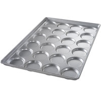 Chicago Metallic 42345 24 Mold Glazed Individual Hamburger Bun / Muffin Top / Cookie Pan