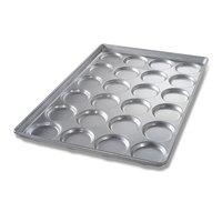 Chicago Metallic 42345 24 Mold Glazed Individual Hamburger Bun / Muffin Top / Cookie Pan