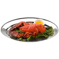 25 7/8 inch x 18 inch Oval Stainless Steel Platter