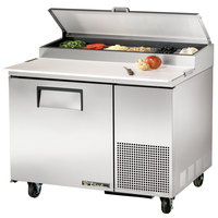 True TPP-44 44 inch One Door Refrigerated Pizza Prep Table