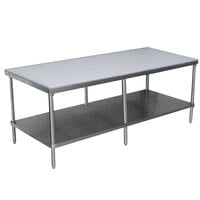 Advance Tabco SPT-3010 Poly Top Work Table 30 inch x 120 inch with Undershelf