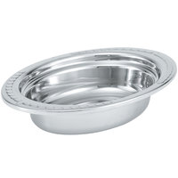 Vollrath 8230210 Miramar® 2 Qt. Decorative Stainless Steel Oval Food Pan - 2 1/2 inch Deep