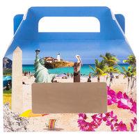 1-Piece 1 lb. Landscape Window Candy Box 6 3/8 inch x 3 inch x 3 1/2 inch   - 250/Case