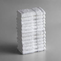 Lavex Lodging Premium 13 inch x 13 inch 100% Ring Spun Cotton Wash Cloth 1.5 lb. - 12/Pack
