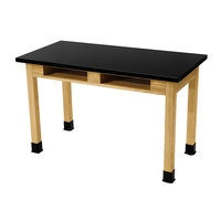 National Public Seating SLT2448-36-BC 24 inch x 48 inch Science Lab Table with Built-In Book Compartments - 36 inch Height