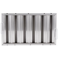 All Points 26-3902 12 inch(H) x 20 inch(W) x 2 inch(T) Stainless Steel Hood Filter - Ridged Baffles