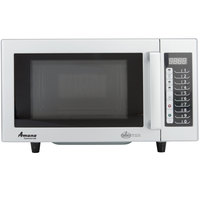 Amana RMS10TS Stainless Steel Commercial Microwave with Push Button Controls - 120V, 1000W