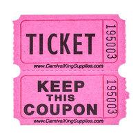 Carnival King Magenta 2-Part Raffle Tickets - 2000 / Roll