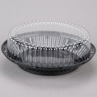 D&W Fine Pack J43-1 9 inch Black Pie Display Container with Clear High Dome Lid - 10 / Pack