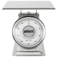 Rubbermaid FG10200S Pelouze 200 lb. Stainless Steel Mechanical Receiving Scale