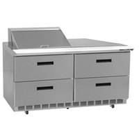 Delfield D4460N-8 60 inch 4 Drawer Refrigerated Sandwich Prep Table