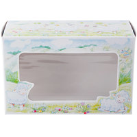 Southern Champion 2493 8 inch x 5 3/8 inch x 12 13/32 inch Window Bakery Box with Lamb Design   - 100/Bundle