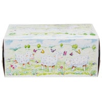 Southern Champion 2493 8 inch x 5 3/8 inch x 12 13/32 inch Window Cake / Bakery Box with Lamb Design - 100/Bundle