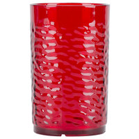Carlisle 550910 Pebble Optic 9.5 oz. Ruby SAN Plastic Tumbler - 24/Case
