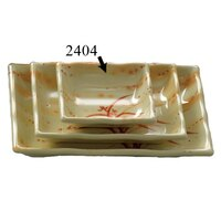 Thunder Group 2404 Gold Orchid 3 oz. Square Melamine Wave Sauce Dish - 12/Pack