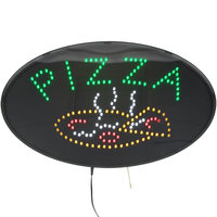 Choice 20 7/8 inch x 13 inch LED Pizza Sign With Two Display Modes