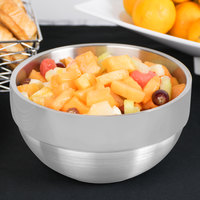 Vollrath 46667 3.4 Qt. Double Wall Stainless Steel Round Satin-Finished Serving Bowl