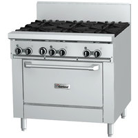 Garland GF36-6R Natural Gas 6 Burner 36 inch Range with Flame Failure Protection and Standard Oven - 194,000 BTU