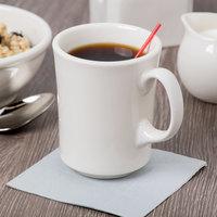 Syracuse China 951250277 Flint 12 oz. Ivory (American White) Porcelain Cafe Mug - 12/Case
