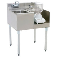 Eagle Group BD24-22R 2200 Series 24 inch Blender Module with Left Mount 10 inch x 14 inch Sink