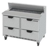Beverage-Air SPED48HC-12-4 Elite Series 48 inch 4 Drawer Refrigerated Sandwich Prep Table