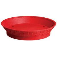 Tablecraft 157510R 10 1/2 inch Red Plastic Diner Platter / Fast Food Basket with Base - 12/Pack