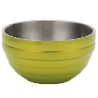 Vollrath 4656930 Double Wall Round Beehive 10 Qt. Serving Bowl - Lemon Lime