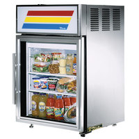 True GDM-5-S-LD Stainless Steel Countertop Display Refrigerator with Swing Door