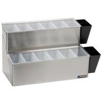 San Jamar B6766L EZ-Chill 12-Compartment Stainless Steel Condiment Bar