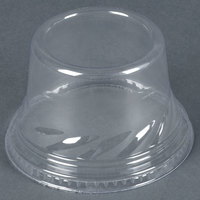 Clear Tall Dome PET Lid for 5 oz., 8 oz., and 12 oz. Sundae Cups - No Hole - 112/Pack