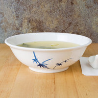 Thunder Group 5075BB Blue Bamboo 52 oz. Round Melamine Rimless Bowl - 12/Case