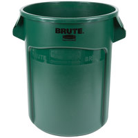 Rubbermaid FG262000DGRN BRUTE 20 Gallon Green Trash Can