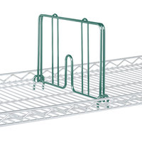 Metro HD18-DHG Hunter Green Drop Mat Snap-On Divider - 18 inch Wide