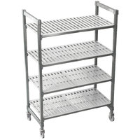 Cambro CPMU244867V4480 Camshelving Premium Mobile Shelving Unit with Premium Locking Casters 24 inch x 48 inch x 67 inch - 4 Shelf